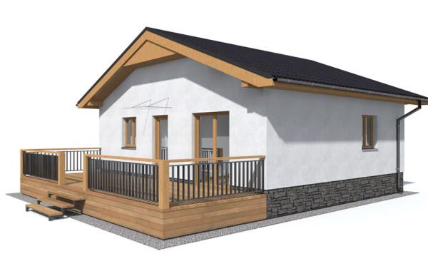 Rodinný dom drevostavba 3 izbová