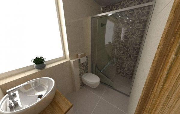 Mikro kúpelňa v dome na Skladnej