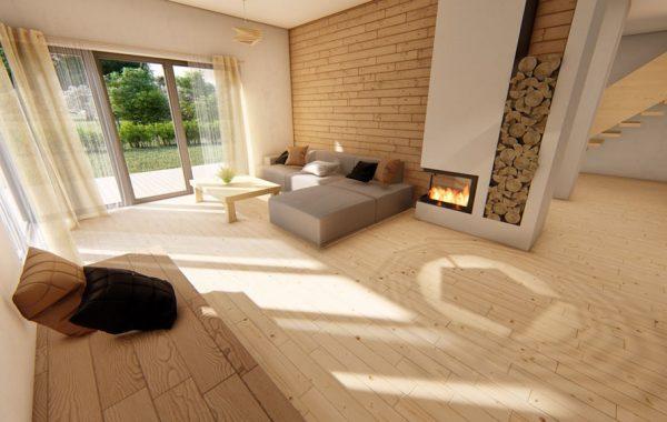 Návrh interiéru do drevostavby