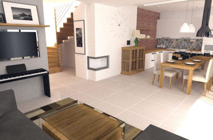 Návrh kuchyne pre klienta v peknom priestrannom dome
